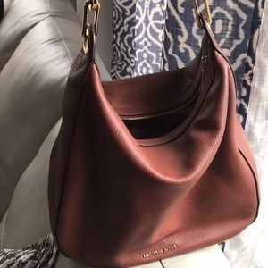 Michael Kors Hobo Leather brick color bag
